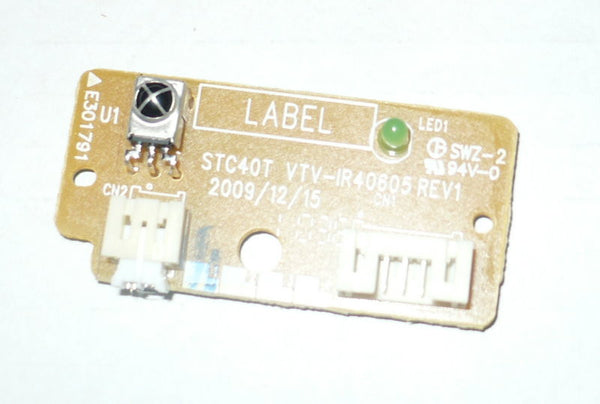 TOSHIBA 37E200U  TV BUTTON AND IR BOARD   STC40T
