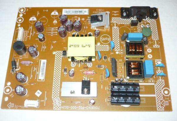 VIZIO E320I-B1 TV POWER SUPPLY BOARD PLTVDL281XAF2Q / 715G6143-P02-000-002H