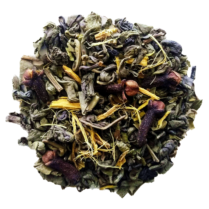 "Bang Bang! <span class=""subtitle"">Sweet, Minty & Spiced Gunpowder Green Tea</span>"