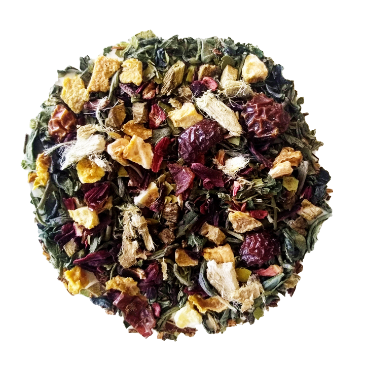 "BeauTea Bomb <span class=""subtitle"">Raspberry & Apricot infused Green Tea, Maté & Rooibos Mix</span>"