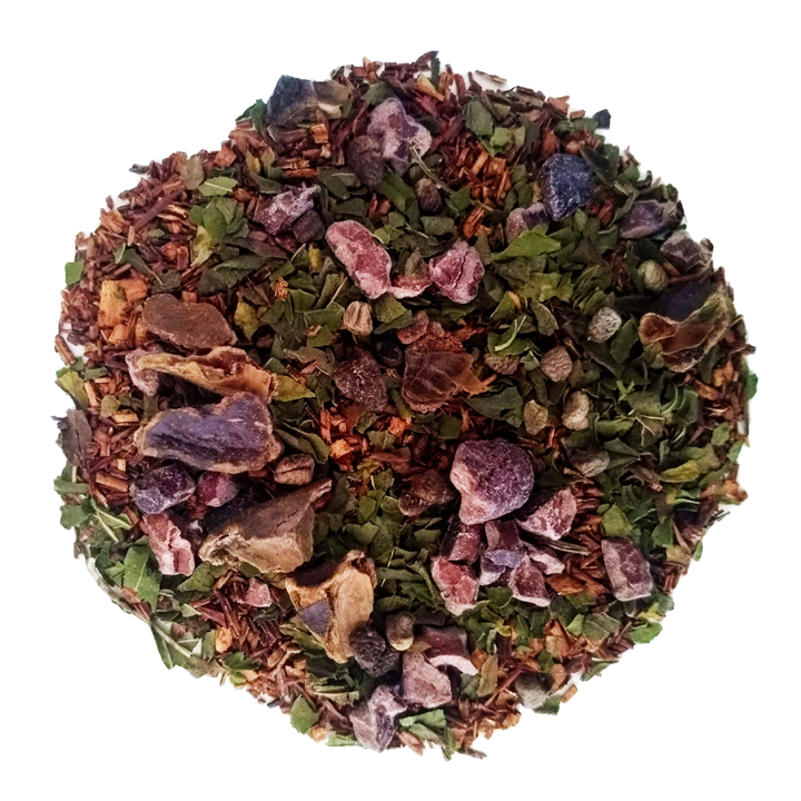 "Choco-Mint Dream <span class=""subtitle"">Chocolate infused Mint Rooibos & Honeybush Red Tea Mix</span>"