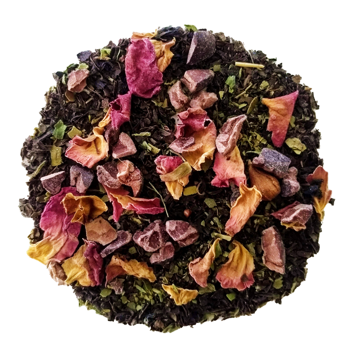 "Focus <span class=""subtitle"">Orange infused Black Tea & Yerba Maté with Chocolate & Rose notes</span>"