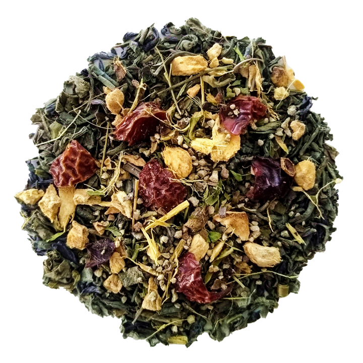 "Ginger Ninja <span class=""subtitle"">Spiced & Sweet Chunmee Green Tea Mix</span>"