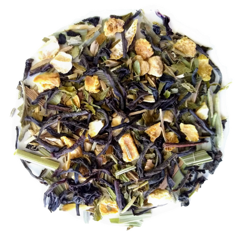 "Happy Times <span class=""subtitle"">Lemon infused Oolong & Green Tea with Ginseng & Ginkgo Biloba</span>"