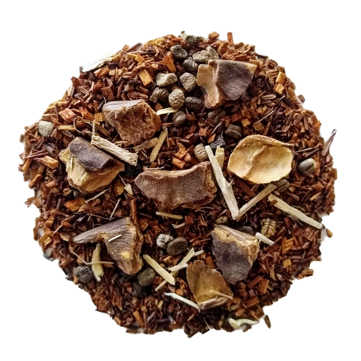 "Heavenly Hazelnut <span class=""subtitle"">Hazelnut infused Honeybush Red Tea</span>"