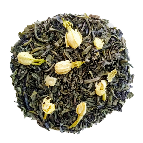 "Jasmine Green Tea <span class=""subtitle"">Organic Chunmee Green Tea infused with Jasmine Oil</span>"