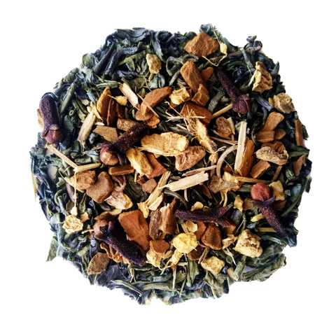 "Mountain Chai <span class=""subtitle"">Spiced Green Tea Chai Mix with Ginseng</span>"