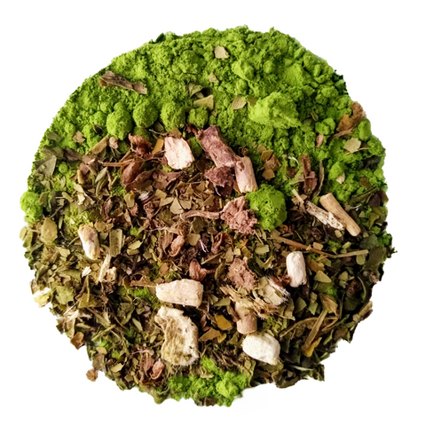 "Mountain Matcha <span class=""subtitle"">Matcha & Maté Mix with Ginseng & Holy Tulsi</span>"