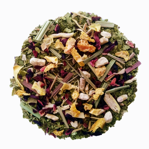 "Om Sweet Om <span class=""subtitle"">Orange & Vanilla infused Yerba Maté with Ginseng</span>"