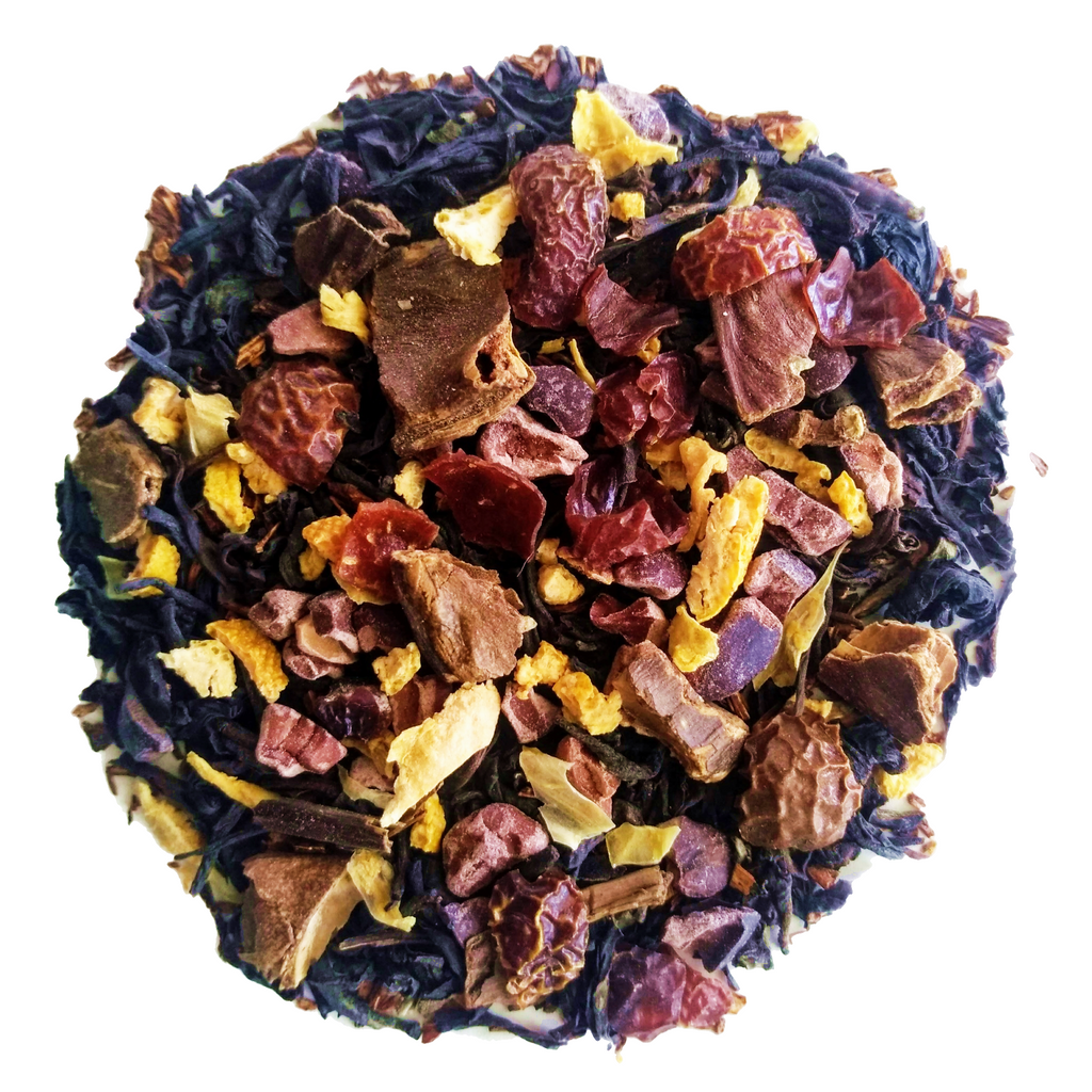 "Orange You Glad…<span class=""subtitle"">Chocolate & Orange infused Black Tea & Rooibos Mix</span>"