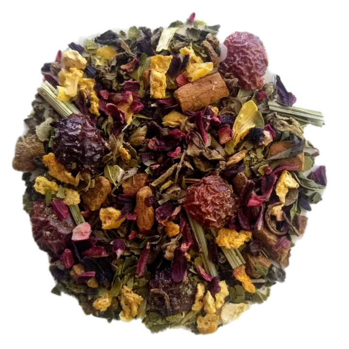 "Sierra Sunrise <span class=""subtitle"">Refreshing Maté Mix with Spices, Holy Tulsi & Hibiscus</span>"