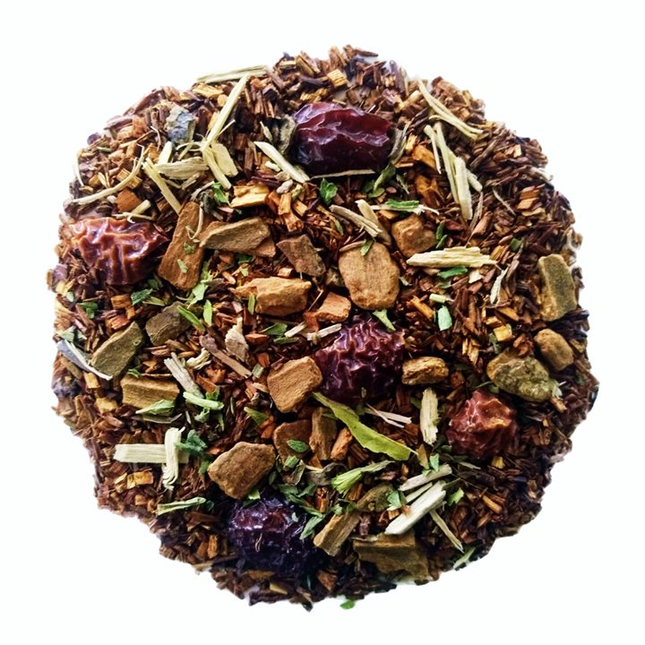 "Sippin' Pretty <span class=""subtitle"">Spiced Apple infused Rooibos with Ginseng</span>"