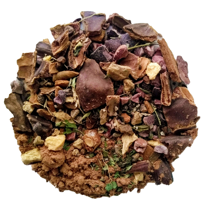 "Spiced Mayan Cacao <span class=""subtitle"">Rich & Chocolatey Spiced Herbal Chai Mix</span>"