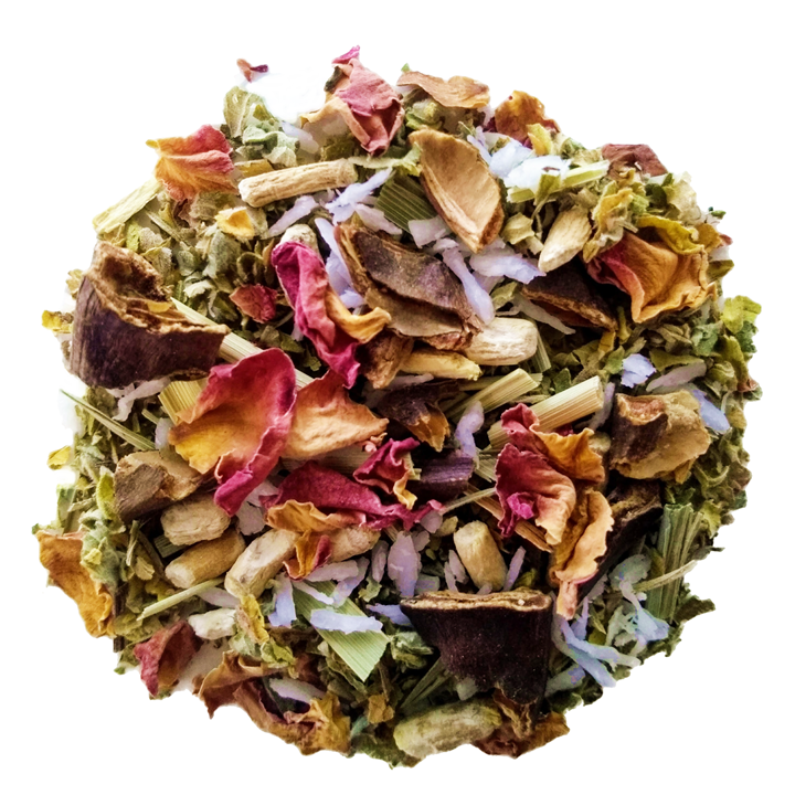 "Té Amoré <span class=""subtitle"">Lemongrass & Coconut Blend with Ginseng and Rose</span>"