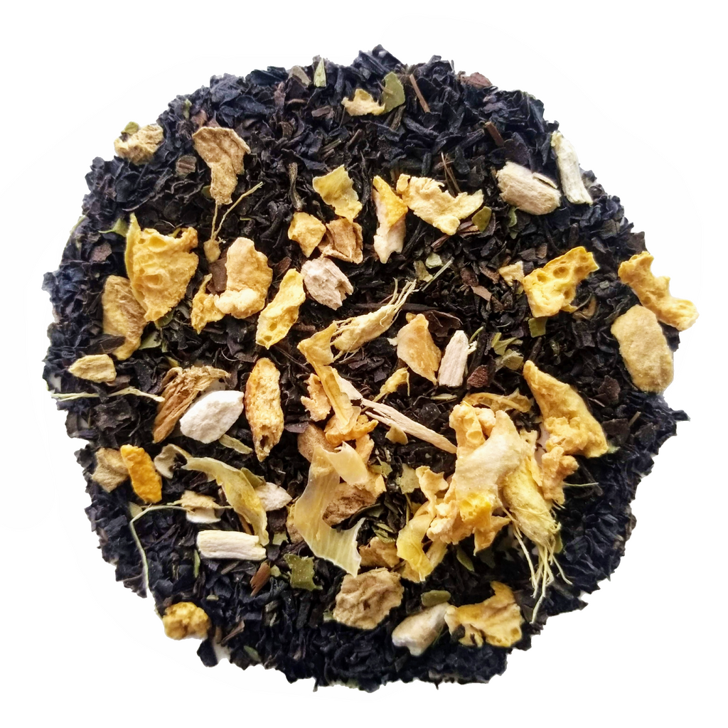 "Wake Me Up <span class=""subtitle"">Energizing Black Tea & Maté with Ginger and Ginseng</span>"