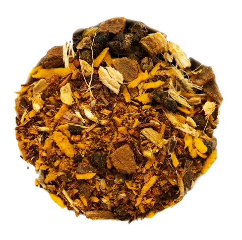 "Wanna Chai Me? <span class=""subtitle"">Rich Turmeric Infused Herbal Chai</span>"
