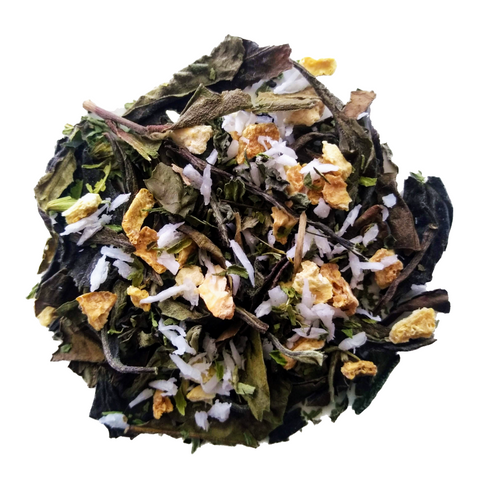 "White Coconut <span class=""subtitle"">Coconut infused Green Tea with Lemon</span>"