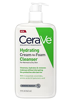 CeraVe Hydrating Cream-to-Foam Cleanser 19 Fl Oz (562ml)