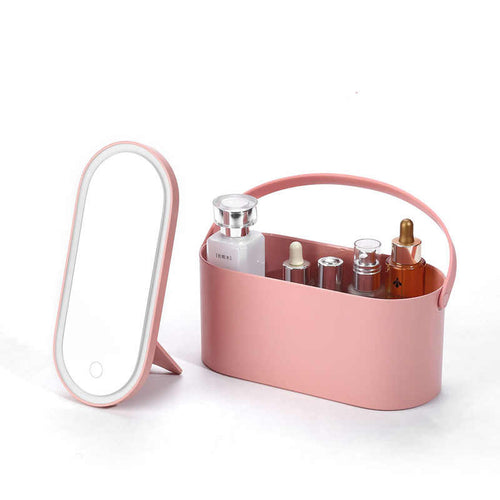 Portable Travel Makeup Case  w/ LED Lighted Mirror