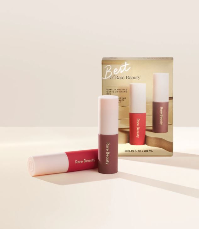 (PREORDER) Rare Beauty Best of Rare Beauty Mini Lip Soufflé Matte Lip Cream Duo