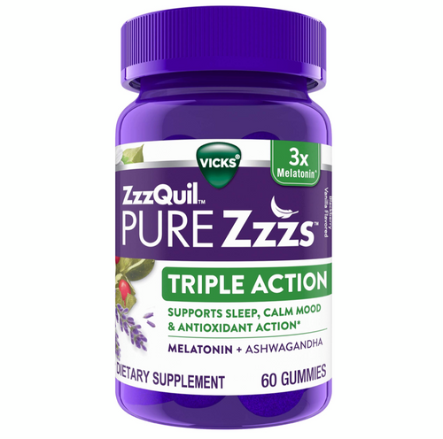 Vicks ZzzQuil PURE Zzzs, Triple Action Gummy