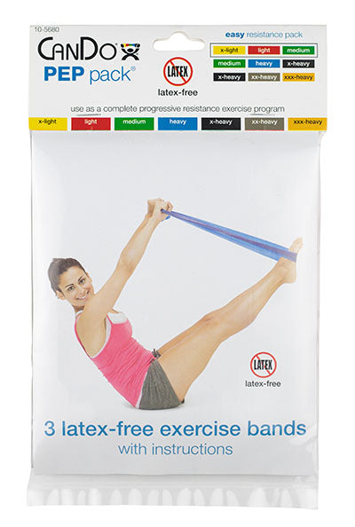 CanDo Latex-Free Exercise Band - PEP Pack