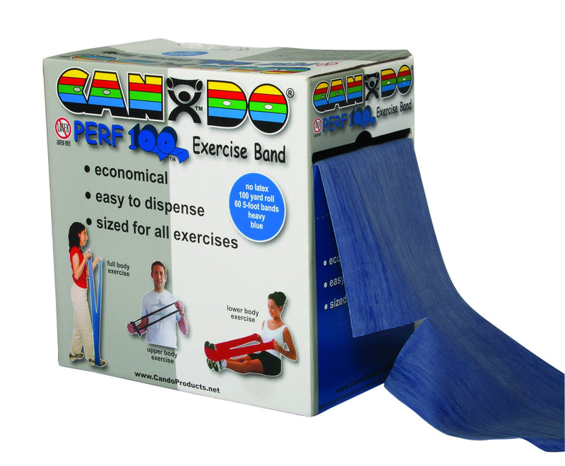 CanDo Latex Free Exercise Band - Perf 100 roll