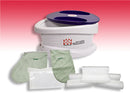 WaxWel Paraffin Bath - Standard Unit Includes: 100 Liners, 1 Mitt, 1 Bootie and 6 lb Rose Paraffin
