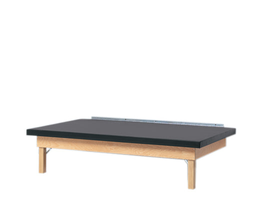 wooden platform table - wall mounted, folding, upholstered, 7' x 5' x 21""