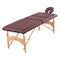"Massage table with adjustable back, 30"" x 73"", burgundy"