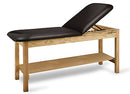 "CanDo Treatment Table w/ Adjustable Back & Shelf, 400 LB Capacity, 72""L x 30""W x 31""H"