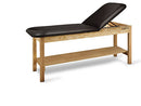 "CanDo Treatment Table w/ Adjustable Back & Shelf, 400 LB Capacity, 78""L x 30""W x 31""H"