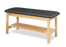 "CanDo Treatment Table w/Flat Top and Shelf, 400 LB Capacity, 72""L x 27""W x 31""H"
