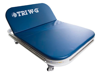 Tri W-G Mat Table, Bariatric 2 Section Motorized Hi-Lo, 5'W x 7'L, 1000 lb capacity