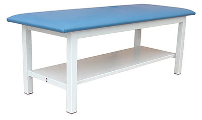 "Tri W-G Treatment Table Fixed Height with Shelf, Steel, 30"" x 72"", 500Ib capacity"