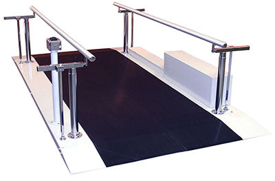 Tri W-G Bariatric Parallel Bars, Motorized Height and Width Adjustable, 8'