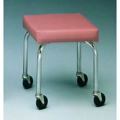 "Mobile stool, no back, square top, 18"" H, specify upholstery color"