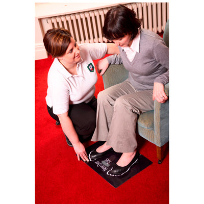 "Dycem non-slip safety floor mat, 14""x20"", black"