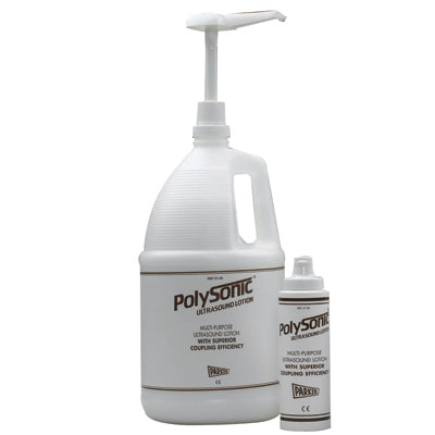 Polysonic ultrasound lotion, 1 gallon jug w/8.5 oz refillable dispenser bottle