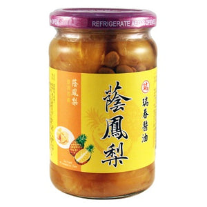 Ruei Chun Salted Pineapple Can ( 1 Bottle) - 瑞春蔭鳳梨(1瓶350g)