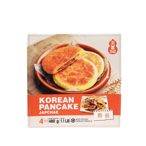 Golden Spoon Korean Pancake Japchae Flavor (1 Box) - 韓國煎餅粉絲口味(1盒4入)
