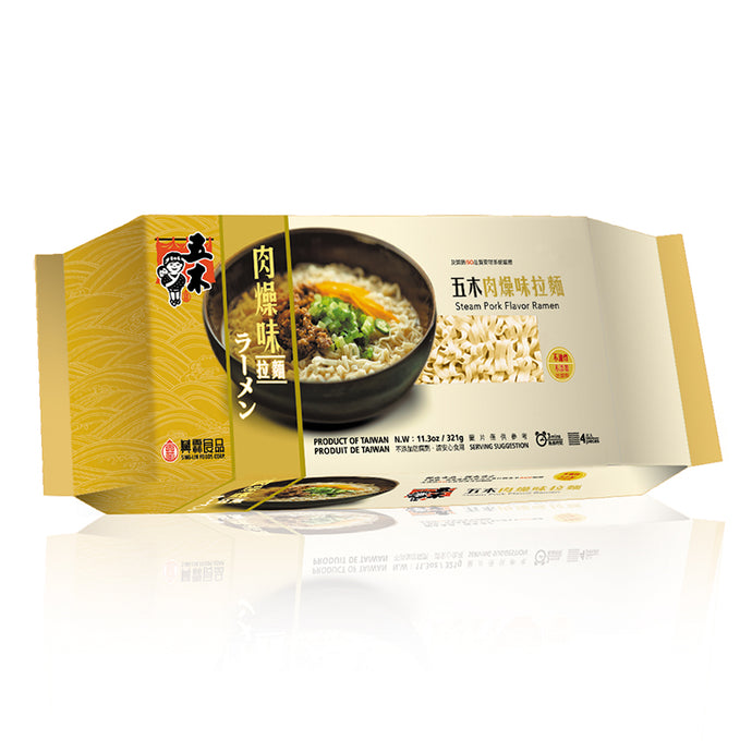 Wu Mu Steam Pork Flavor Ramen (1 Pack) - 五木肉燥拉麵 (1包321g)