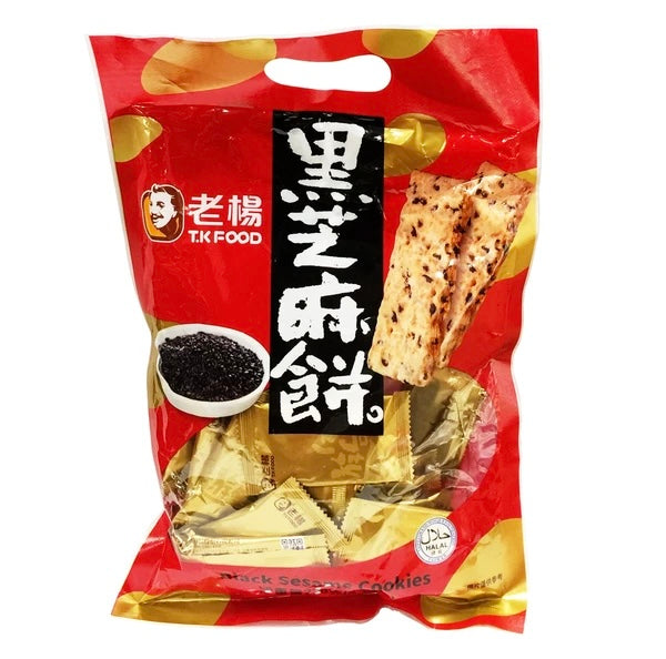T.K Food Black Sesame Cookies(1 Bag) - 老楊黑芝麻餅(1包230g)