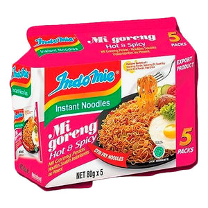 IndoMie Instant Noodles Mi-Goreng Fried Noodles Spicy - 印尼營多炒麵辣味(1袋5入)