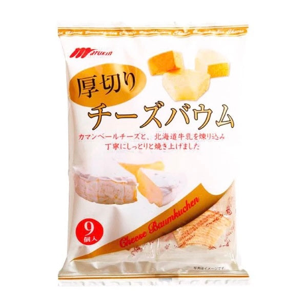 Marukin Baum Cake Cut Cheese Flavor (1 Bag) - 切片千層糕起司口味(1包8.2oz)