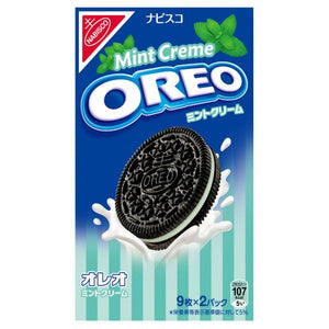 Nabisco Oreo Cookie Mint Cream (1 Box) - 奧利奧薄荷夾心餅乾(1盒6.58oz)