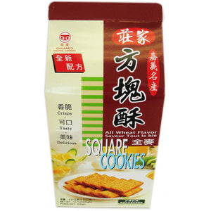 Chuang Jia All Wheat Flavor Square Cookie (1 Box) - 莊家全麥方塊酥(1盒380g)