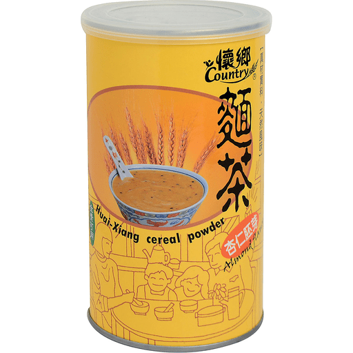 Country Huai-Xiang Cereal Powder Almond Flavor (1 Can) - 懷鄉麵茶杏仁胚芽味(1罐550g)
