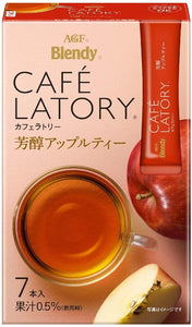 AGF Blendy Cafe Latory Apple Tea ( 1 Boxes ) - AGF醇厚的蘋果茶(1盒7入)