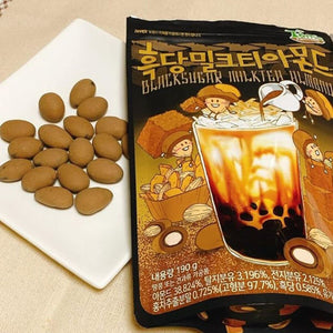 Tom's Almond Black Sugar Milk Tea Flavor (1 Bag) - 韓國黑糖奶茶杏仁(1包6.70oz)